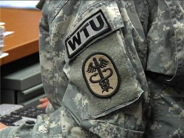 Reports of soldier suicides, crimes and allegedly wrongful discharges of soldiers from the Army has led to an investigation of a Warrior Transition battalion. Above, an Army Warrior Transition Unit insignia is seen. (Army)