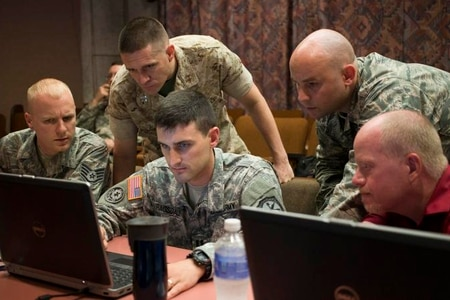 Army Cyber Command is looking at how it can ingrate emerging capabilities in cyber and electronic warfare to unified land operations. (Staff Sgt. Tracy J. Smith/Georgia Army National Guard)