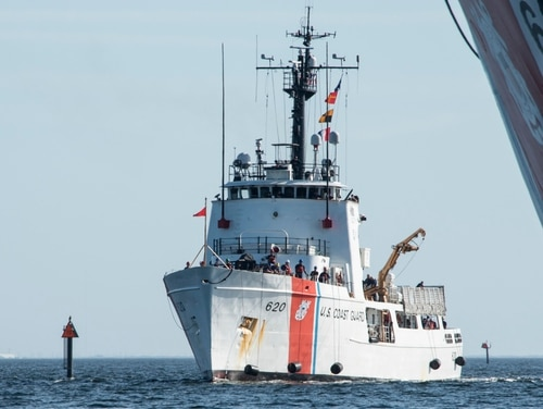 Instead of aircraft carriers, the Coast Guard mans cutters, like the Resolute, which returned home on Dec. 31 to St. Petersburg following a 59-day patrol in the Caribbean Sea. (Public Affairs Specialist 1st Class Michael De Nyse/Coast Guard)