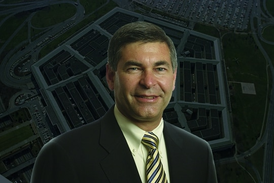 Michael Brown is the new head of the Pentagon's Defense Innovation Unit. (Illustration by Devan Feeney/Staff)