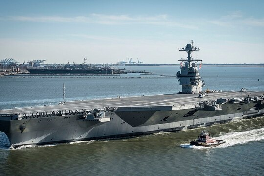 The Gerald R. Ford (CVN 78) has experienced a series of shortfalls with its plumbing system. (Ridge Leoni/Released)