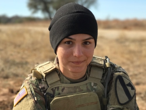 Spc. Alex Ketchum, then an infantryman with 1st Cavalry Division at Fort Hood, Texas, officially changed her gender marker in 2017. (Photo courtesy Spc. Alex Ketchum)
