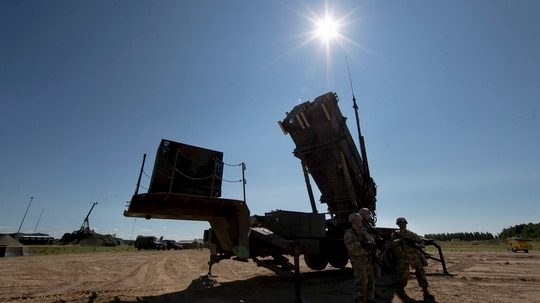 There are 13 countries that currently operate the Patriot system, with Romania, Sweden and Poland bringing that number up to 16. (Mindaugas Kulbis/AP)