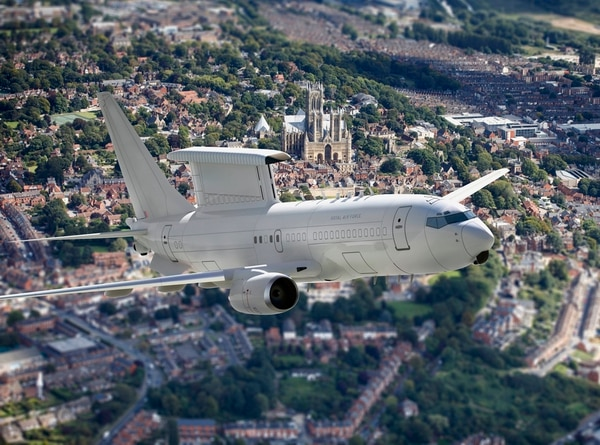 Britain's Royal Air Force plans to operate a fleet of Wedgetail early warning and control aircraft. (British Ministry of Defence)
