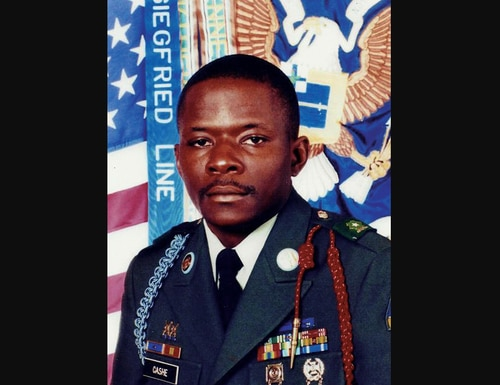 Sgt. 1st Class Alwyn Cashe died in 2005 after attempting to save multiple troops from a burning Bradley vehicle while engulfed in flames. (Army photo)