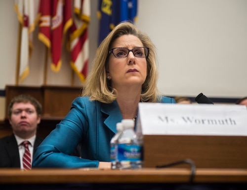 Then-Defense Undersecretary for Policy Christine Wormuth testifies before the House Armed Services Committee, March 3, 2015, in Washington, D.C. (Gabriella Demczuk/Getty Images)