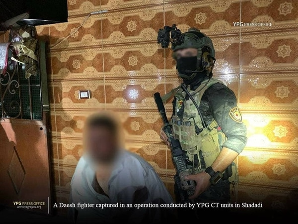 Members of the SDF's counterterrorism unit known as the YAT are often seen with U.S. equipment and night vision devices. (courtesy/ YPG)