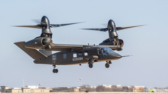 Bell's V-280 Valor recently completed final key performance parameters within the Army's Joint Multi-Role Technology Demonstrator program, proving it can conduct high-level, low-speed agility maneuver. (Courtesy of Bell)