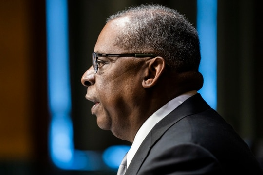 Secretary of defense nominee Lloyd Austin outlined for senators Tuesday his support for the DoD's proactive and assertive approach to thwart cyber actors. (Jim Lo Scalzo-Pool/Getty Images)