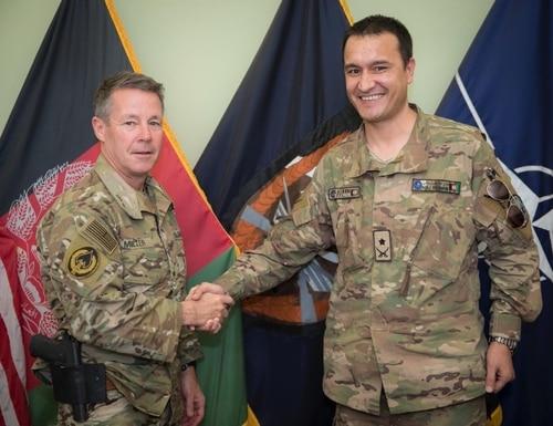 Gen. Austin Scott Miller, left, and Col. Abdul Rahman Rahmani. (Courtesy of Col. Abdul Rahman Rahmani)