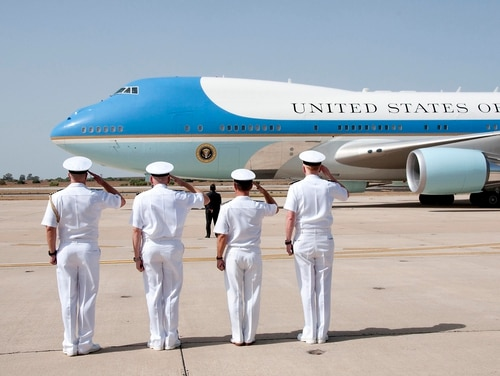 The U.S. Air Force is moving forward with a replacement for Air Force One, the plane used by U.S. presidents. (Brian Dietrick/U.S. Navy)