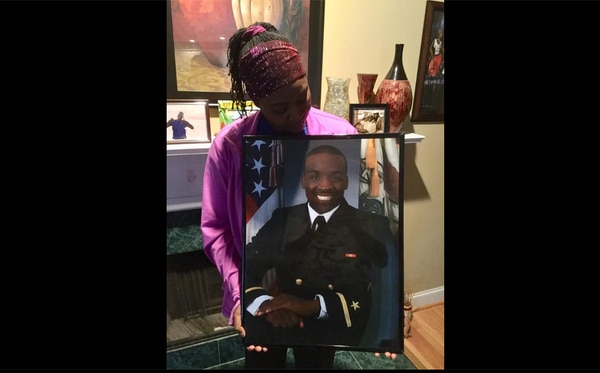 A woman named Alicia McCalla said Tuesday on Facebook that a cruiser Lake Erie sailor missing at sea since Sunday is her son, Lt. j.g. Asante McCalla. (Photo courtesy Alicial McCalla)