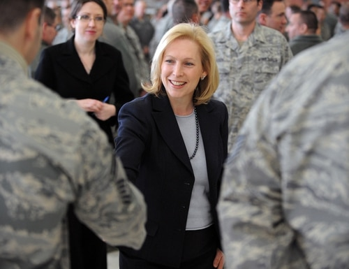 Sen. Kirsten Gillibrand visits New York Air National Guard troops in 2012. (Army photo)