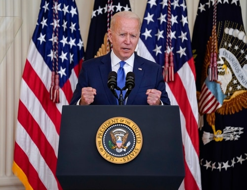 President Joe Biden speaks during an event to commemorate Pride Month, the same day he signed an order to promote diversity and inclusion within the federal workforce. (Evan Vucci/AP)