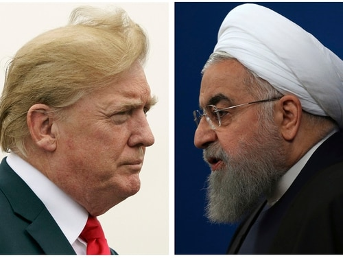 President Donald Trump, left, and Iranian President Hassan Rouhani recently butt heads over nuclear arms and economic sanctions. (AP)