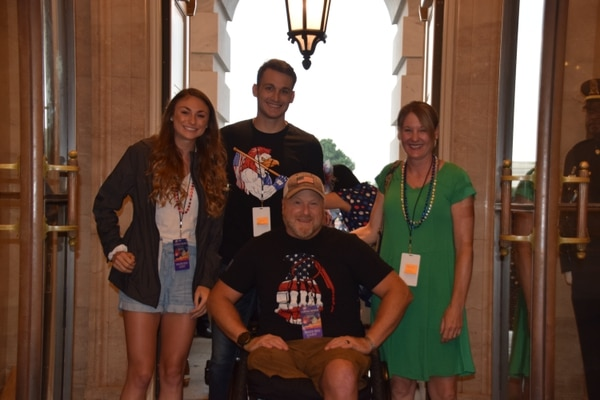 Retired Army Maj. Peter Way attended the event with his wife Ann, daughter, 2nd Lt. Lara Way, and her boyfriend, 2nd Lt. Samuel Powell, both Army officers. (Kristine Froeba).