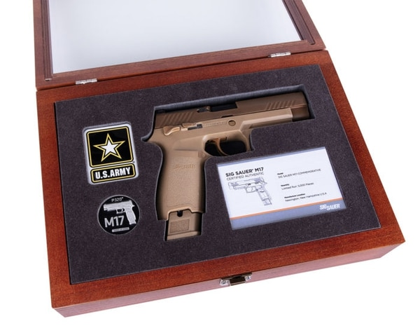 Sig Sauer is releasing 5,000 Commemorative M17 handguns for sale to the public. The pistols are made to military specifications. (Sig Sauer)