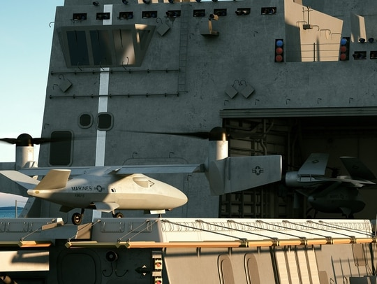 A Group 5 drone under development by Bell seeks to meet the Marine Corps' needs for a 'do-it-all' drone. (Bell)