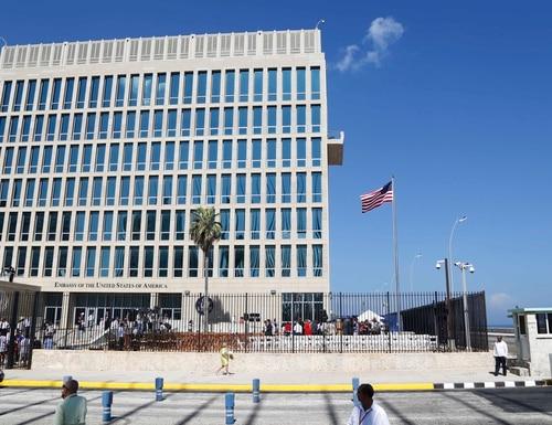 In this Aug. 14, 2015, file photo, a U.S. flag flies at the U.S. embassy in Havana, Cuba. (Desmond Boylan/AP)