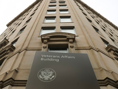 The Department of Veteran Affairs headquarters building near the White House in Washington is shown on Feb. 14, 2018. An internal watchdog's investigation has found that VA Secretary David Shulkin improperly accepted Wimbledon tennis tickets and likely wrongly used taxpayer money to cover his wife's airfare for an 10-day European trip. (Pablo Martinez Monsivais/AP)
