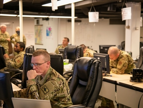 A new bill aims to improve governors' to decide when and how to deploy their state's National Guard to respond to cyber threats.