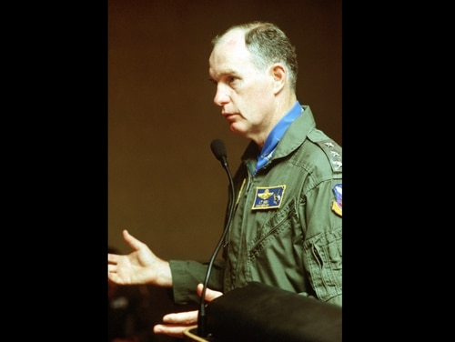 Undated photo of retired Air Force Lt. Gen. Thomas McInerney while in command of the 11th Air Force. He commanded the Alaska-based unit from its activation in 1990 until departing for the Pentagon in 1992. (Staff Sgt. Greg Suhay)