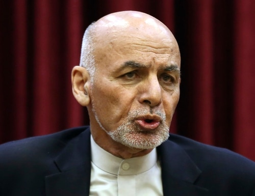 In this March, 1, 2020, file photo, Afghan President Ashraf Ghani speaks during a news conference at the presidential palace in Kabul, Afghanistan. (Rahmat Gul/AP)