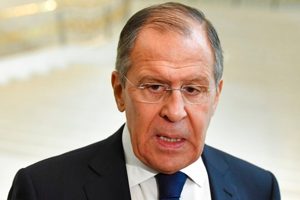 Russian Foreign Minister Sergey Lavrov speaks to the media in Tashkent, Uzbekistan, Tuesday, March 27, 2018. Speaking at a conference in Uzbekistan, Russian Foreign Minister Sergey Lavrov told reporters that a reaction will follow because Russia