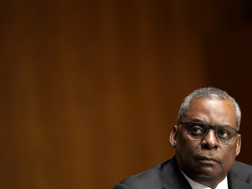 Retired Army Gen. Lloyd Austin, President Joe Biden's pick to be Defense Secretary, testifies at his confirmation hearing before the Senate Armed Services Committee on January 19, 2021, in Washington, D.C. (Greg Nash-Pool/Getty Images)