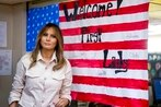 First lady on secret trip to visit injured service members