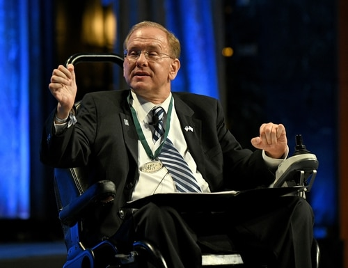 Rep. Jim Langevin believes nations need to more quickly and publicly attribute malign cyber activity by other nations. (Bryan Bedder/Getty Images for The Buoniconti Fund To Cure Paralysis)