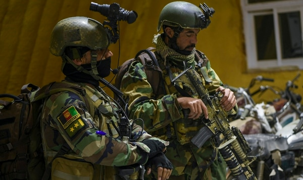Afghan special operators prepare for an offensive operation in the Shindad district of Herat province, Afghanistan. (Staff Sgt. Doug Ellis/Air Force)