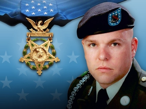 Army Staff Sgt. Travis Atkins will be posthumously awarded the Medal of Honor on Wednesday, March 27, 2019, for saving the lives of three soldiers on June 1, 2007, when his unit ran into insurgents armed with explosive vests southwest of Baghdad. (Army)