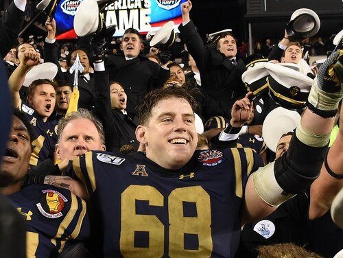 U.S. Naval Academy Midshipman 1st Class David Forney died Feb. 20, after being found unresponsive in Bancroft Hall. The offensive guard on Navy's football team wore No. 68 as a varsity player. (Navy)