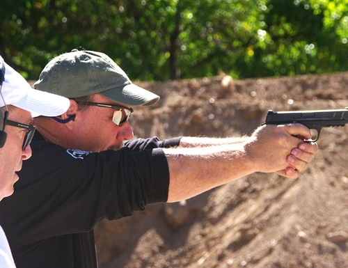 Shooting steel matches can be a non-intimidating and relaxing way to ease into the shooting competition arena. (Photo by David Bahde)