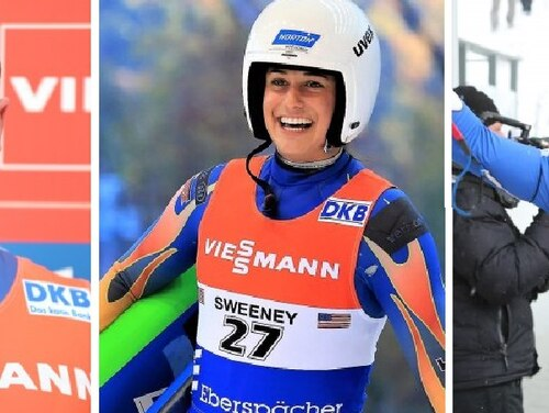 Team USA luge qualifiers, from left: Sgts. Taylor Morris, Emily Sweeney and Matt Mortensen. (Army and courtesy photos)