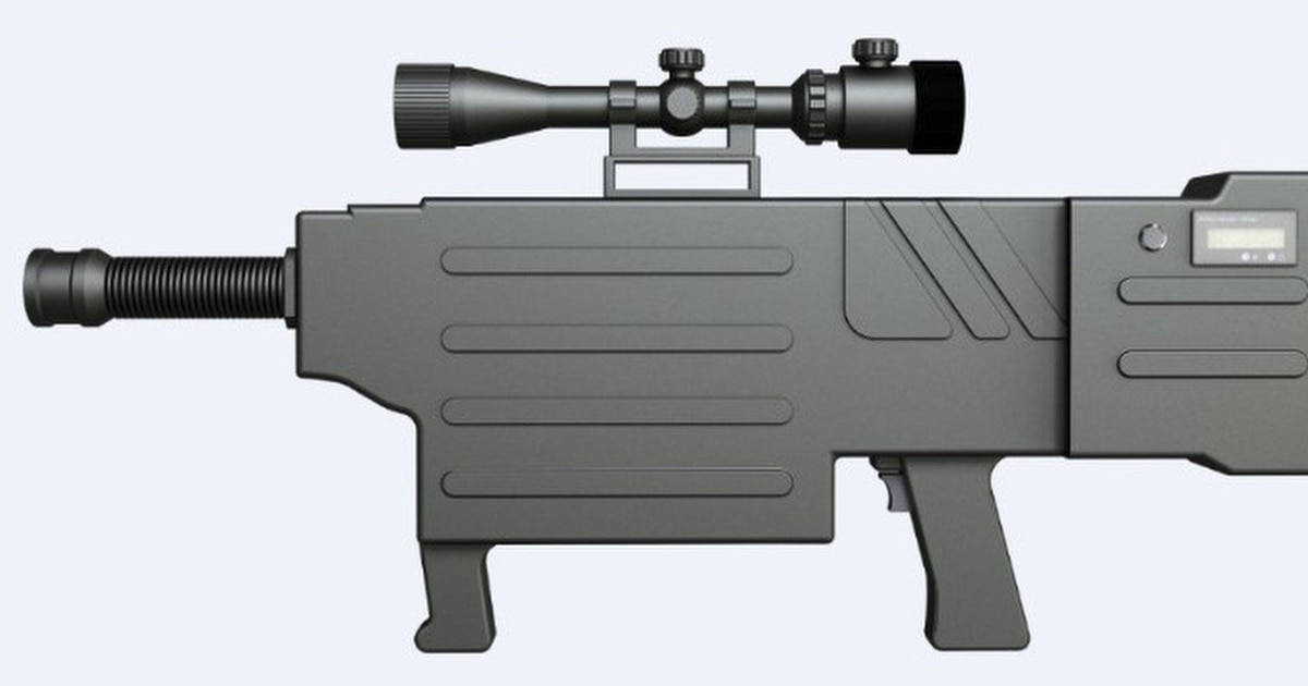 rifle is