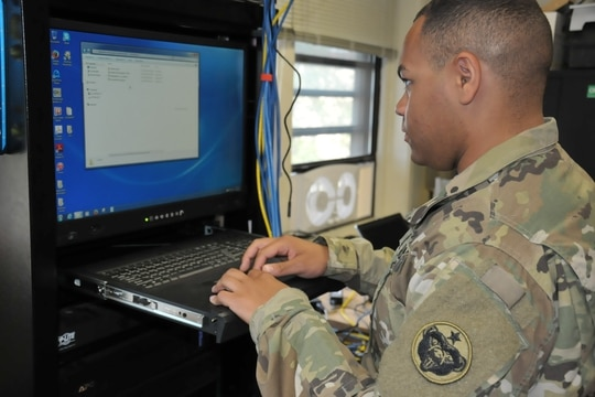 The U.S. Army's PEO EIS is working on several IT modernization efforts. (Sgt. 1st Class Joel Gibson/U.S. Army)