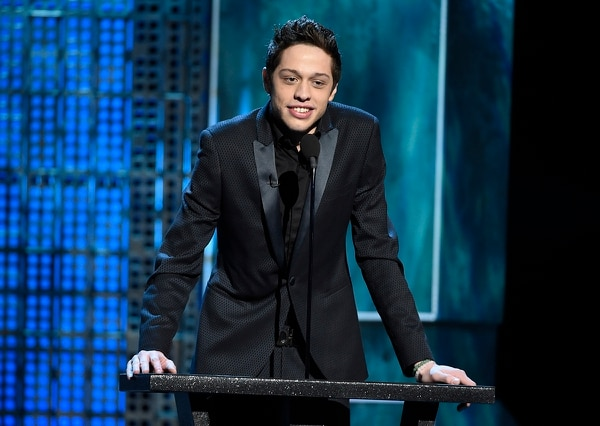 "In this March 14, 2015, file photo, Pete Davidson speaks at a Comedy Central Roast. Texas Republican congressional candidate Dan Crenshaw has chided ""Saturday Night Live"" comic Davidson for poking fun of the eyepatch he wears because he was badly wounded during his third tour in Afghanistan as a Navy SEAL. (Chris Pizzello/Invision/AP)"