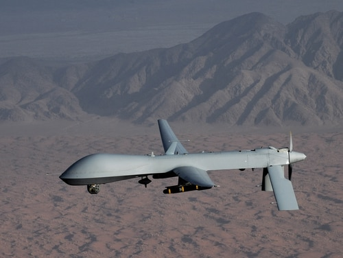 An MQ-1B Predator crashed shortly after takeoff from Incirlik Air Base in Turkey in August 2017. (Lt. Col. Leslie Pratt/Air Force)