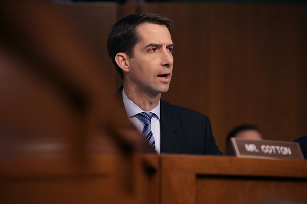 Sen. Tom Cotton, R-Ark, wants the United States to withdrawal from the Open Skies Treaty. (Chip Somodevilla/Getty Images)