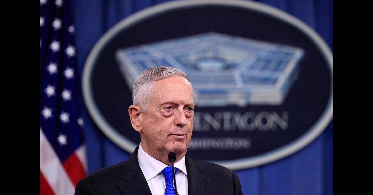 US Defence Chief Jim Mattis,