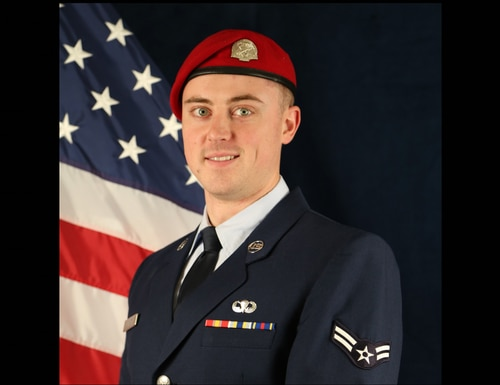 Airman 1st Class Keigan Baker died March 19 when he drowned during a 2,000-yard surface swim. (Air Force)