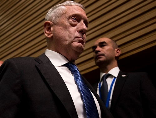 U.S. Defense Secretary Jim Mattis issued a warning to Russia while speaking at a meeting of NATO defense ministers in Brussels, Thursday, Oct. 4, 2018. (Francisco Seco/AP)