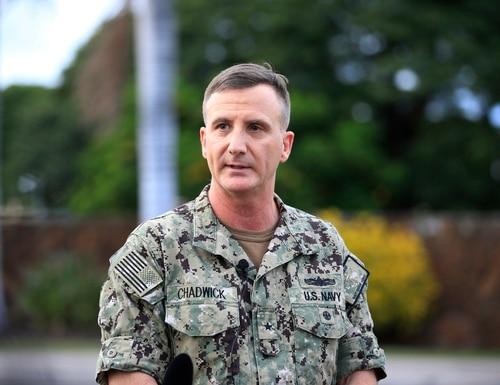 Rear Adm. Robert B. Chadwick II, the commander of Navy Region Hawaii, told reporters on Wednesday that sea service leaders