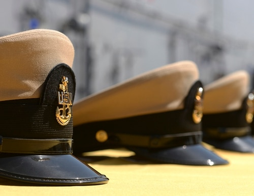 Chief petty officer quotas are expected to be released Oct, 24, when the final selection board of the three-phase process convenes. (MC3 Alexander Kubitza/Navy)