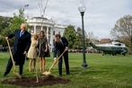 French president, Trump plant oak sapling from Belleau Wood in White House garden