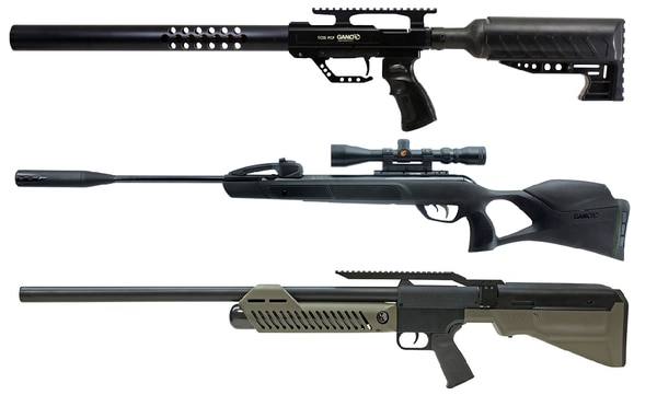 From top, the GAMO Big Bore TC35, GAMO Swarm Magnum and Umarex Hammer (Manufacturer photos)