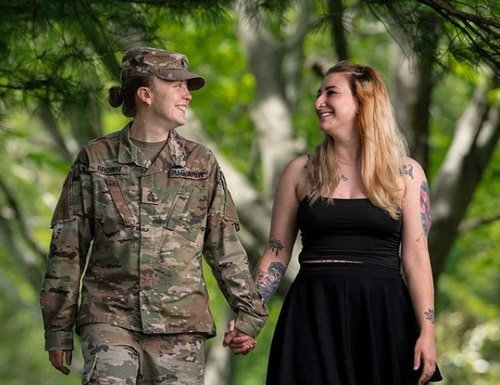 Illinois National Guard Staff Sgt. Dayna Brown says she appreciates the relationships she has made during her nine years in the military. (National Guard Bureau Instagram)