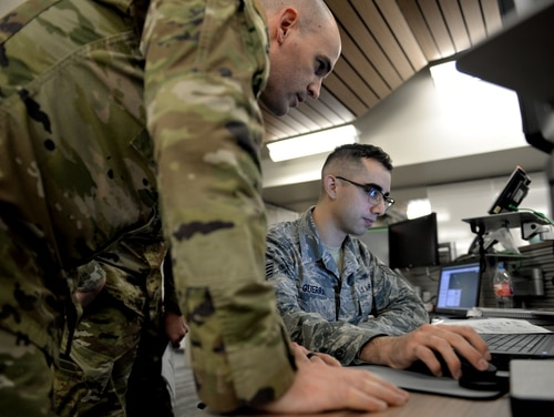 With a lack of good training opportunities, one Air Force unit took matters into their own hands to develop a competition aimed at developing better defensive cyber tradecraft and tactics. (Tech. Sgt. R.J. Biermann/Air Force)